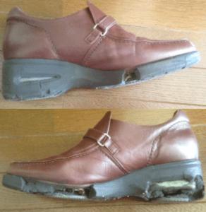 ネット修理依頼した婦人靴