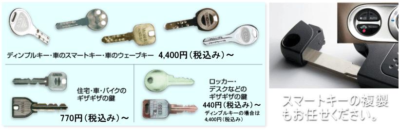 精度の高い合鍵複製もお任せください。